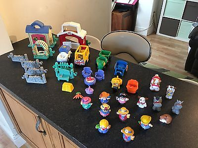 Fisher Price Little People Farm And House With Figures Animals And Vehicles