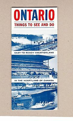 1962 Ontario Things To See And Do Brochure. Department of Travel and Publicity
