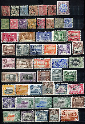 Antigua 1873 - 1964 ***** 52 Stamps ***** 25 Mint / Mnh