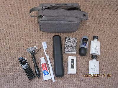 Brand New - Mens Bulgari Toiletry Bag With 8 Items Inside