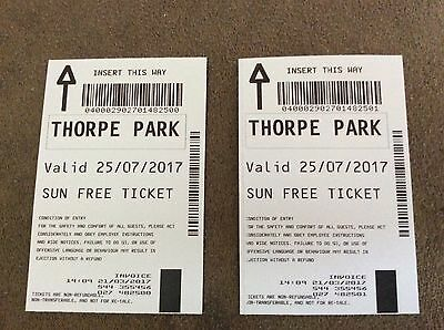 Thorpe Park Tickets 25/07/17