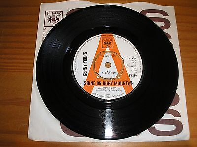 """Kenny Young. Shine On Ruby Mountain. 7"""" Single. Promo"""