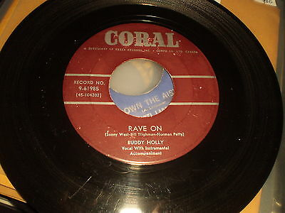 Buddy Holly - Rave On - Canadian Coral 45