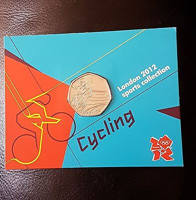 Royal Mint London 2012 Sports Collection Cycling Sealed 50P