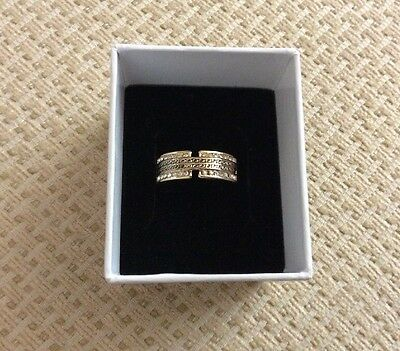New Gold Plated Crystal Set Band Ring Size P