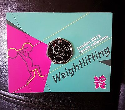 Royal Mint London 2012 Sports Collection Weightlifting Sealed 50P