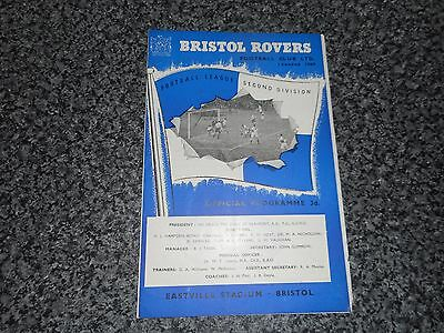 BRISTOL ROVERS  v  LEEDS UNITED  1960/1  ~ AUGUST 29th    *****FREE POST*****