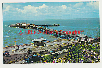 Old Postcard The Old Pier Classic Cars Weston-Super-Mare 1970 AM088