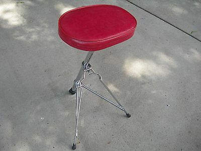 Vintage Early 60's Ludwig #1025 Red Porto Seat/ Throne... Outstanding Condition!
