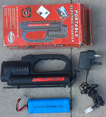 Nitro RC RotoStart Electric Starter For .12 to .28 Engines Charger & Battery