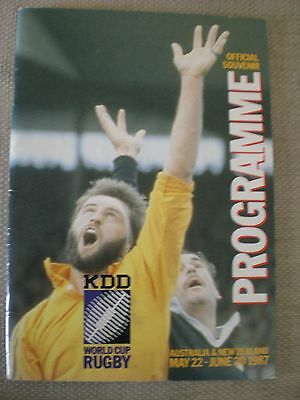 1997 Rugby World Cup  1st Programme