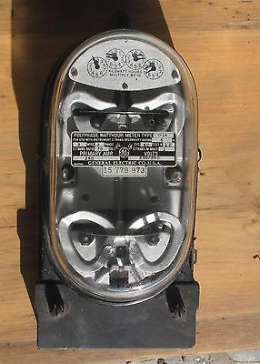 Vintage General Electric Polyphase Watthour Meter Type D-14 Butterfly