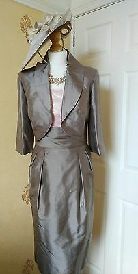 Mother of the Bride /Wedding Guest Dress &'Jacket Size 10 by Gloria Estelles