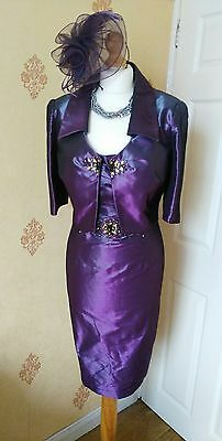 Mother of the Bride /Groom Dress Jacket & Fascinator size 12 by John Charles