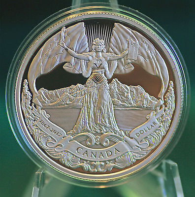 2017 Canada 150 Classic allegory Silver dollar 99.99% silver: coin only