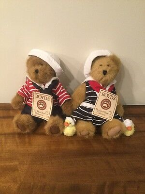 Boyds Bears 'Bailey & Edmund' Perfect Condition With Tag Collectible