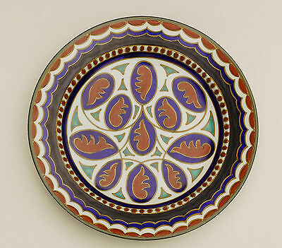 Vintage PZH Zuid Holland GOUDA CHARGER / PLATE 29.5cm - DECOR MAWI Art Pottery