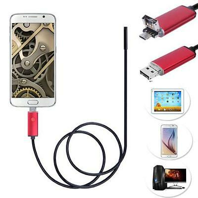 2 in 1 Android USB Endoscope Inspection 7mm Camera 6 LED HD IP67 Waterproof 1M
