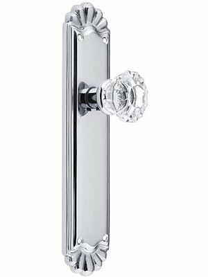 Trenton Door Set With Fluted Crystal Knobs Double Dummy Polished Chrome