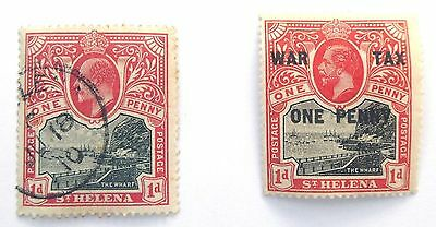 St Helena small collection of mint & used staps KEVII to QEII