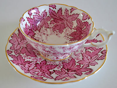 Coalport China Tea Cup And Saucer Red Maple Leaves