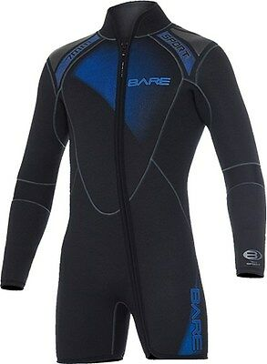New 7Mm Bare Sport Mens Step-In Jacket Scuba Diving Wetsuit Size Ml Blue