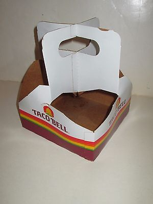 VINTAGE 1980's TACO BELL MEXICAN RESTAURANT CARDBOARD CUP HOLDER CARRIER