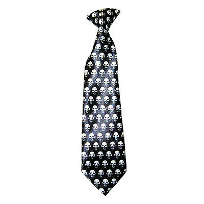 Baby Toddler Satin Ties  Skull Elastic Tie up to 6 years