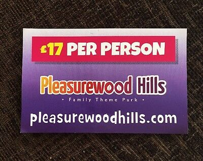 Pleasurewood Hills Voucher - £17 (per person) Entry - Up To 8 People