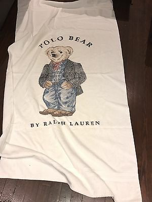 Ralph Lauren POLO BEAR Beach towel vintage USA Flag Sweater Bandanna