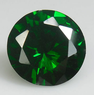 UNUSUAL 10mm ROUND-FACET TOP-GREEN EMERALD GEMSTONE £1 NR!