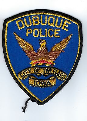 """Dubuque (Dubuque County) IA Iowa Police Dept. """"City of Five Flags"""" patch - NEW!"""