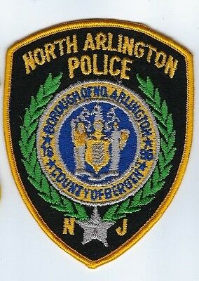 North Arlington (Bergen County) NJ New Jersey Police Dept. patch -NEW! Clothback