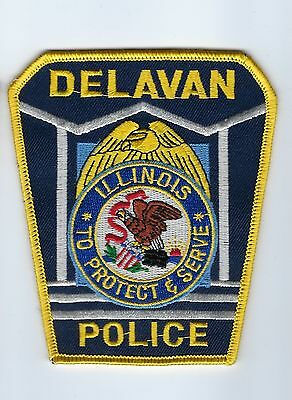 Delavan (Tazewell County) IL Illinois Police Dept. patch - NEW! *CLOTH BACK*
