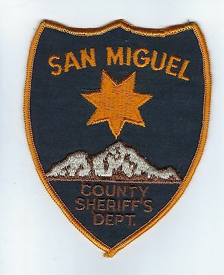 San Miguel County CO Colorado Sheriff's Dept. patch - Nice!