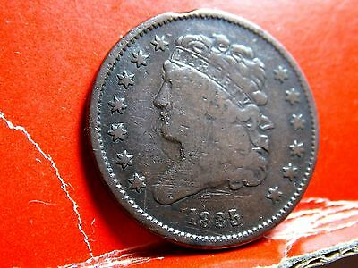 1835 Classic Head Early Copper Half Cent