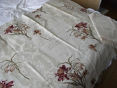 "Vintage Fabric""2 Remnant Pieces""Scribe""&Calico Lining/dolls bodies""52X38inch Fab"