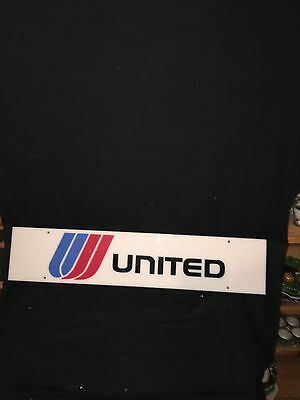 """1980's 28"""" United Airlines Sign"""