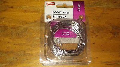 """Staples, Book Rings 2"""", 8 qty, 32008"""