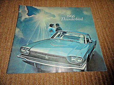 1966 Ford Thunderbird Sales Brochure Catalog Original Excellent