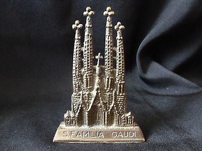 Souvenir Building  Basílica Sagrada Familia By Antoni Gaudi in Barcelona Spain