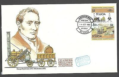 St Lucia 1983 Rocket Railway Cover