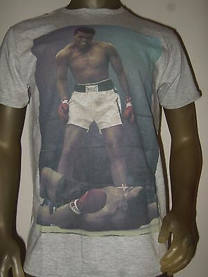 New Men's Muhammad Ali Cassius Clay vs Sonny Liston Boxing Match Fight Shirt