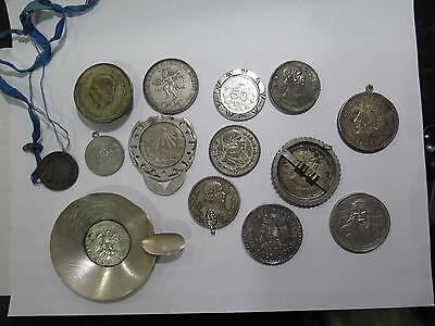 Authentic Mexico Coins Used 4 Jewelry Miscellaneous Pesos Antique Collection Lot