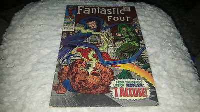 Fantastic Four #65 (Aug 1967, Marvel) FINE ....1ST APP.OF RONAN THE ACCUSER!!!