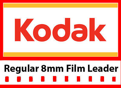Kodak 8mm White Movie Film Leader 50 ft w/ FREE Dual 8mm Adapter (LOWEST PRICE)