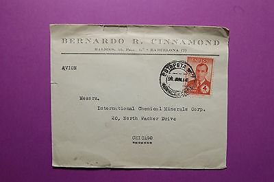444-17 Spain 1946 Cover Mailed to USA