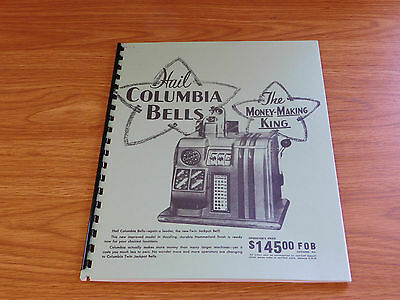 COLUMBIA MANUEL 8 Page SLOT MACHINE MANUAL ANTIQUE SLOT MANUEL REPRO