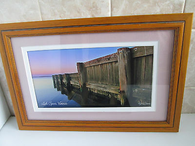 Framed Photo Loch Sport Victoria Australia Wood Sea Wall Ready to Hang