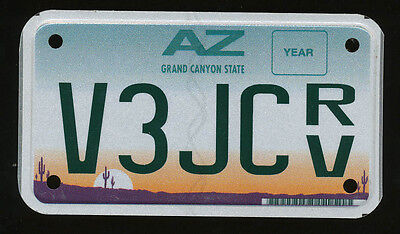 ARIZONA FLAT GRAPHIC BASE RV ATV LICENSE PLATE, Used & Expired